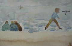 poésie,théâtre du ciel,geneviève briot,aquarelle,gallotta,guy delahaye,actes sud
